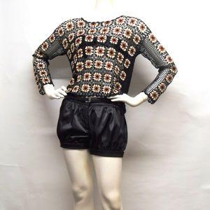 SANDRO Paris Crochet BOHO Sweater top womens 2